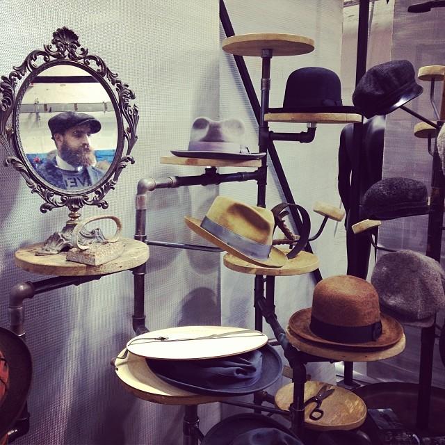 Pitti Uomo 2014 via Instagram - Gentleman hats